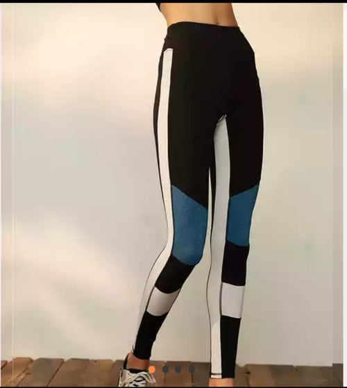Side Panel Block Style Leggings
