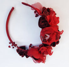 Lady in red headpiece - MajulaHandmade