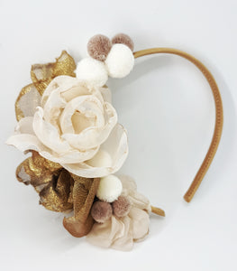 Princess pom poms headpiece - MajulaHandmade