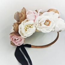 Flower bouquet headpiece - MajulaHandmade