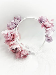 Pink couture headband