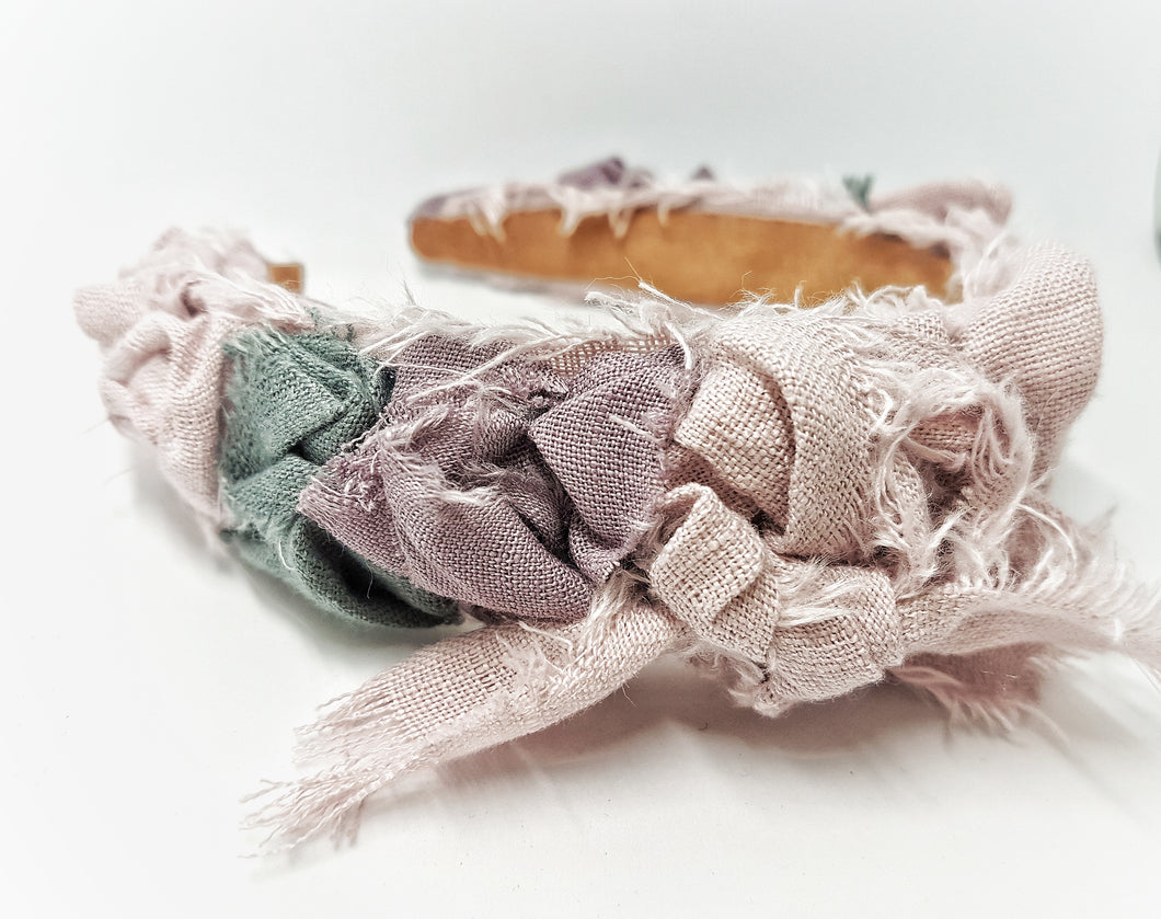 The shabby chic linen headband