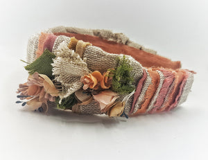 Dried flowers headband