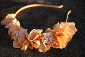 Natural girl headpiece - MajulaHandmade
