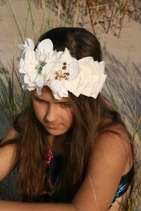 French couture flower crown - MajulaHandmade