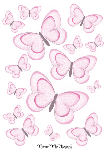 Decals- Pink Edition Butterflies