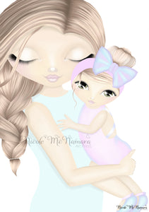 Mummy and Me 'Hold Me Close' Sandy Blonde/Light Brown Edition with Hazel eyes