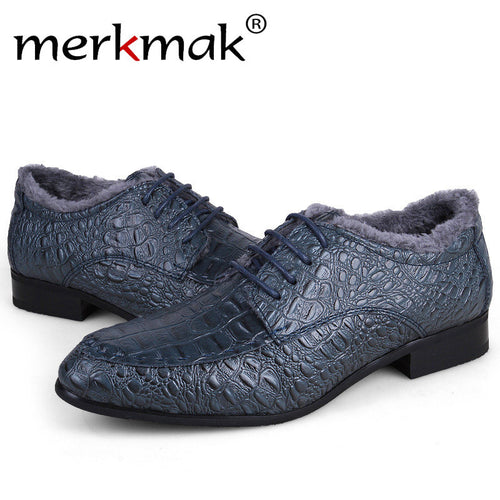 Merkmak Genuine Leather Men Shoes 2016 Fashion Oxfords Loafer Pointe Top Designer Formal Men Shoes Dress Shoes For Plus Big Size