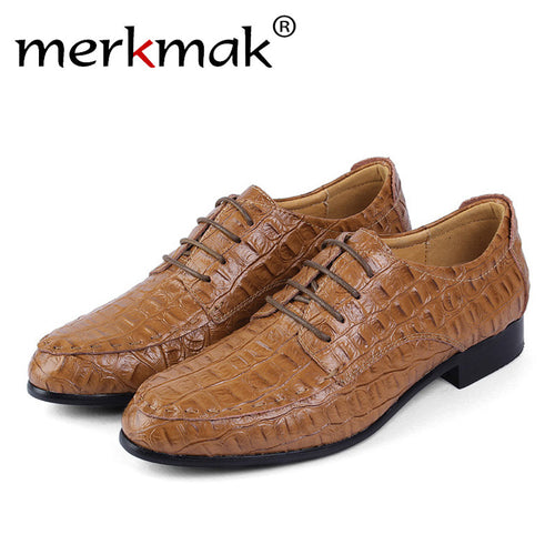 Merkmak Loafer Men Shoes 2016 Fashion Genuine Leather Oxfords Pointe Top Designer Plus Big Size 36-50 Formal MenBusiness Shoes