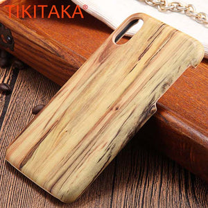 Wood Phone Cases For Iphone X Case Ultra thin Top Quality Wooden Soft TPU Silicone Silicon Back Cover Phone Shell Coque Capa New