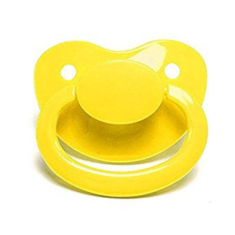 Yellow Big Shield Adult Pacifier