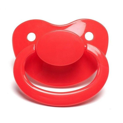 Red Big Shield Adult Pacifier