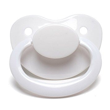 White Big Shield Adult Pacifier