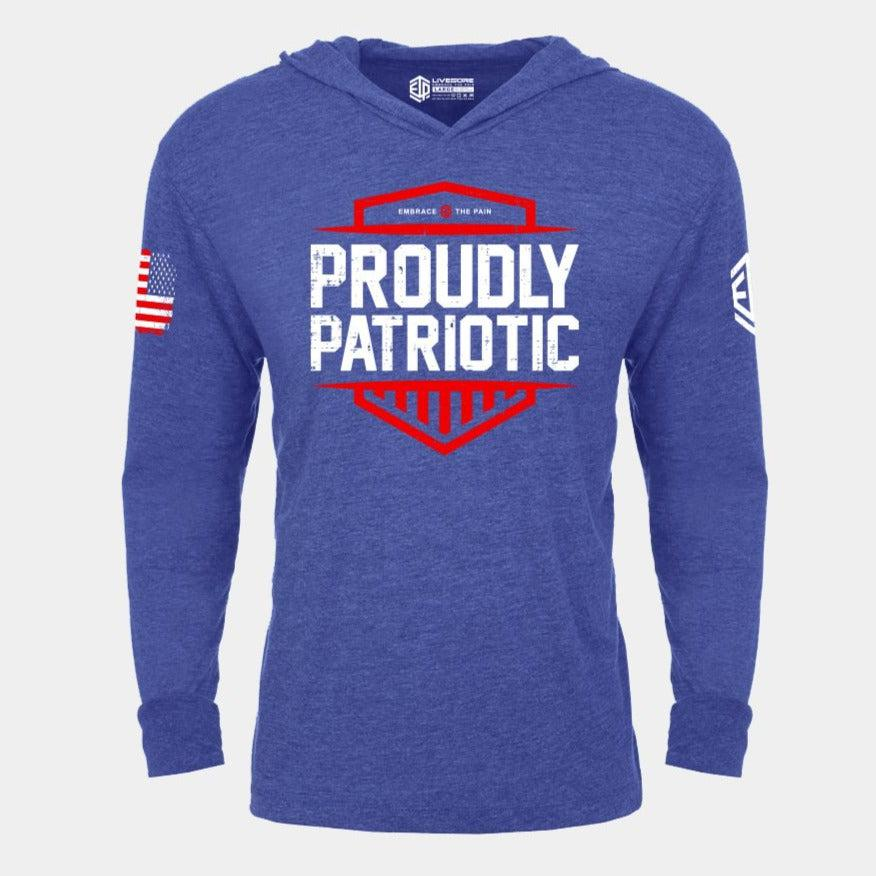 PROUDLY PATRIOTIC Lightweight Unisex Pullover Hoodie