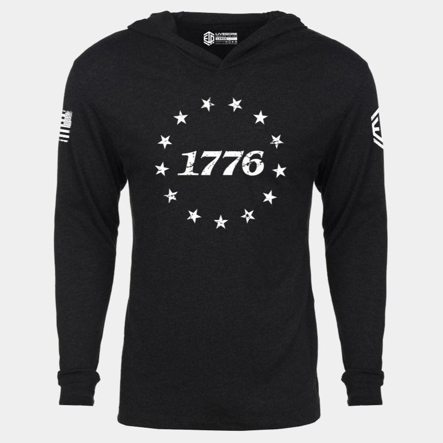 1776 STAND FOR LIBERTY Lightweight Unisex Pullover Hoodie