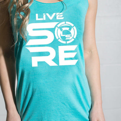 "LIVE SORE ""Stacked"" Tahiti Blue Tank Top"