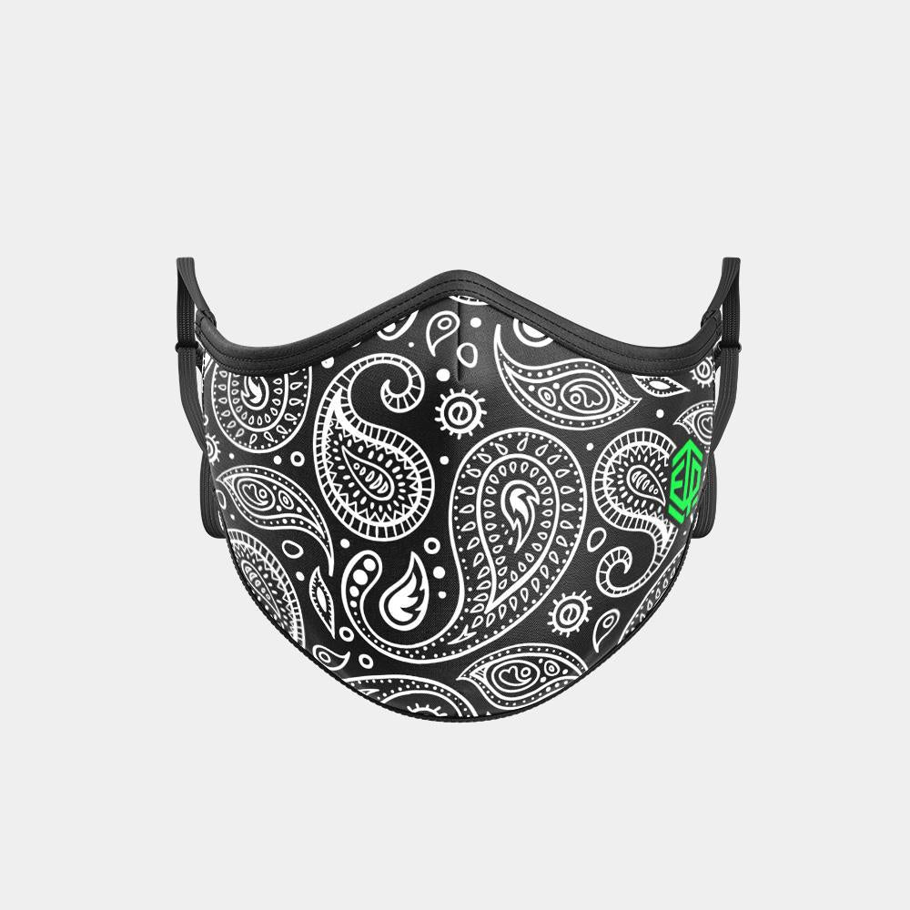 TRIPLE LAYER TRINITY MASK - BLACK PAISLEY