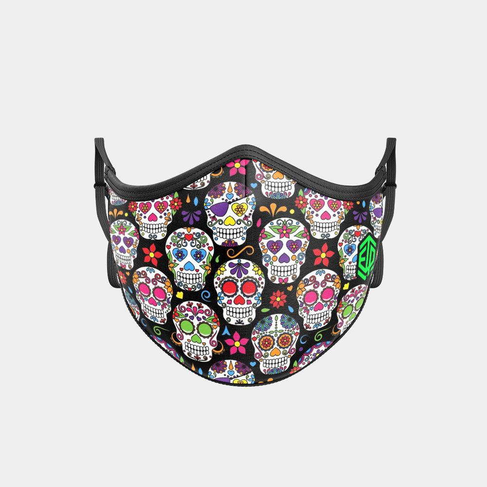 TRIPLE LAYER TRINITY MASK - SUGAR SKULL BLACK