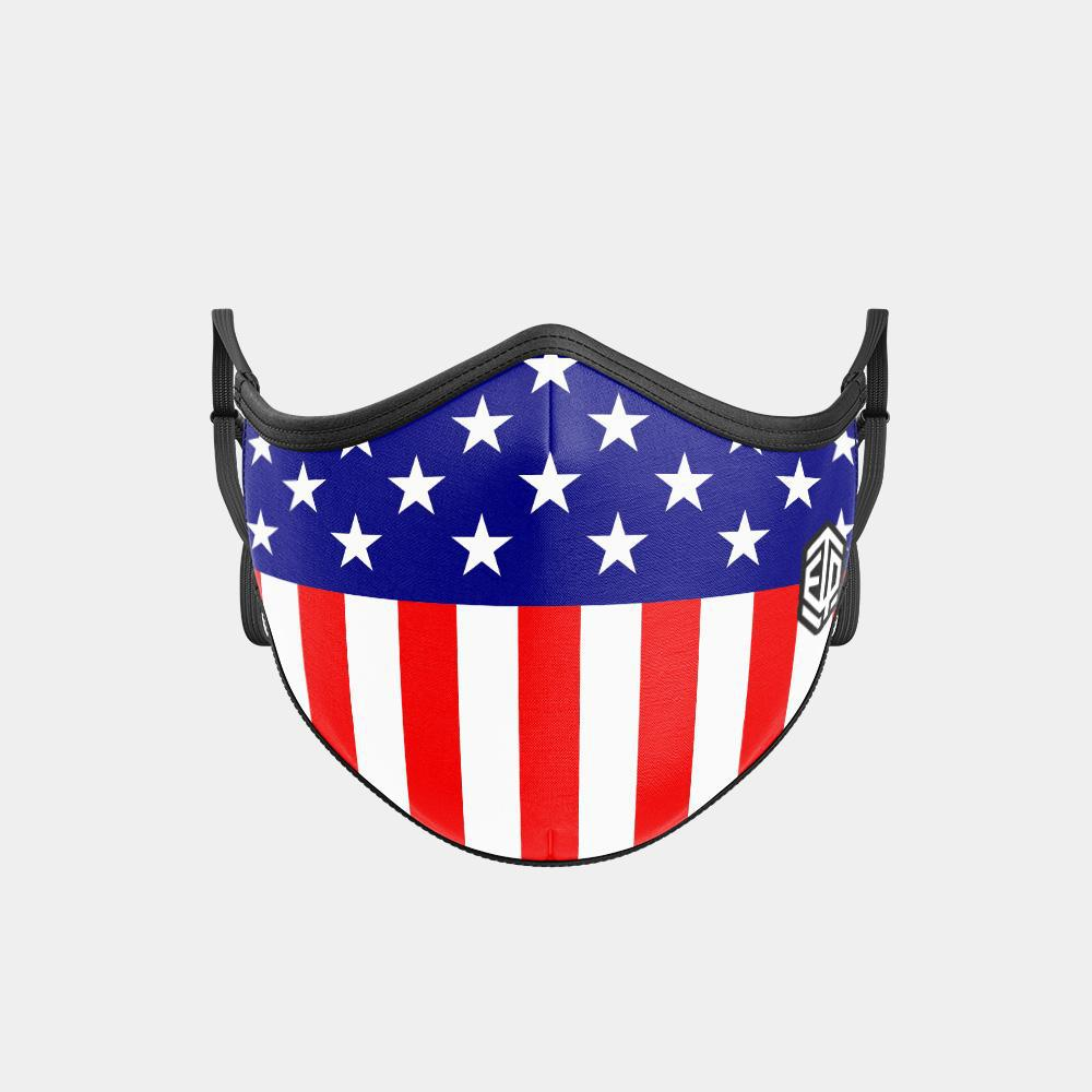 TRIPLE LAYER TRINITY MASK 2-PACK - USA Flag