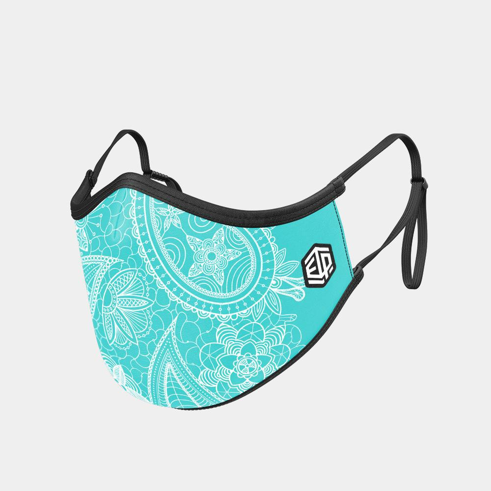 TRIPLE LAYER TRINITY MASK 2-PACK - AQUA PAISLEY