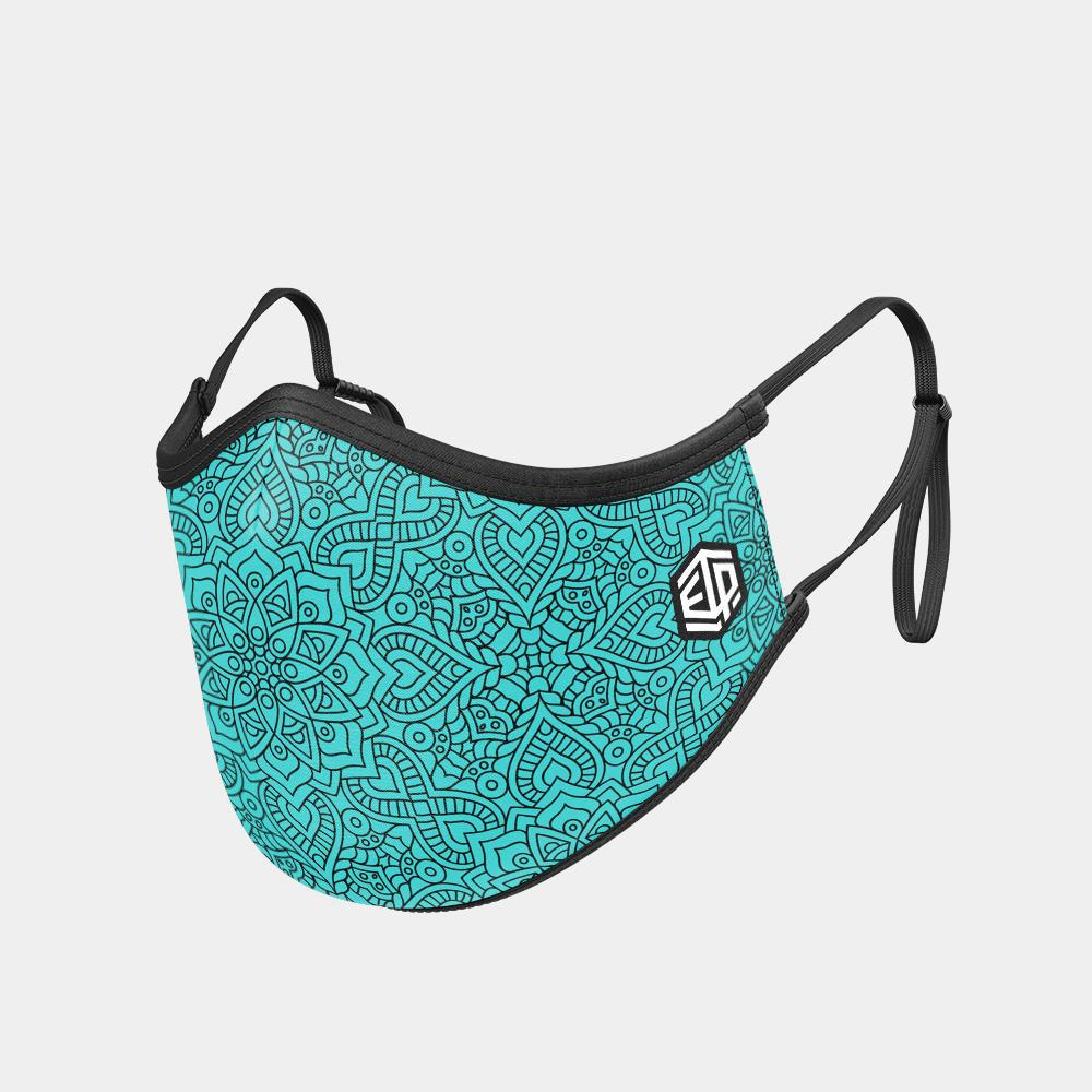 TRIPLE LAYER TRINITY MASK - TEAL BOHEMIAN