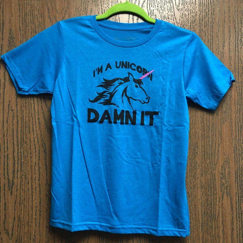 "Kids Unicorn ""Damn It"" T-Shirt *FLASH SALE*"