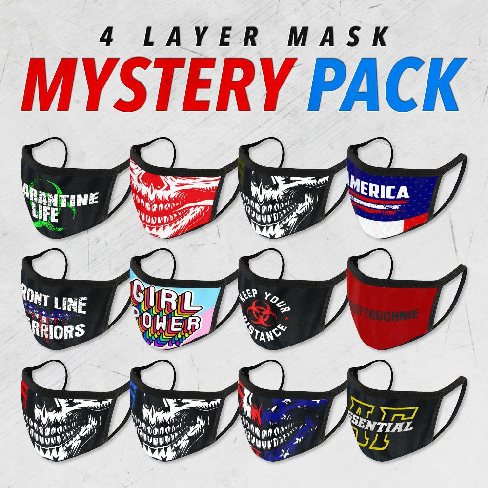 4-LAYER FACE MASK Mystery 5-Pack