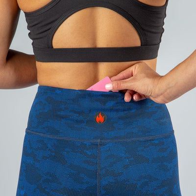 FIRE Booty Leggings - DIGITAL BLUE CAMO