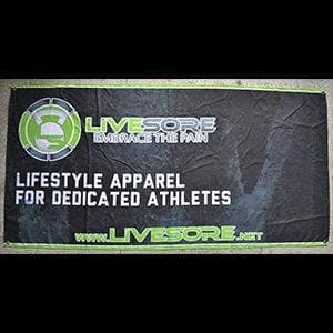4x2 LiveSore Neon Green Banner Flag