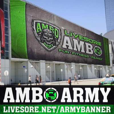 AMBO ARMY 5ft x 2.5ft Banner Flag