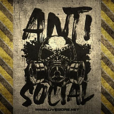 ANTI SOCIAL Sticker 5-Pack