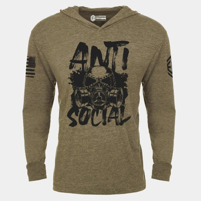 ANTI SOCIAL Lightweight Unisex Pullover Hoodie