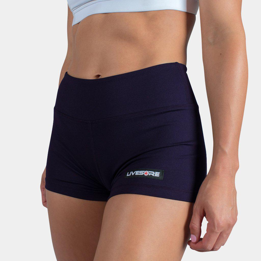 No-Rise Booty Shorts - DEEP PURPLE