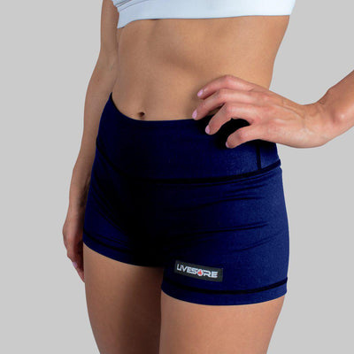 FIRE No-Rise Booty Shorts - NAVY BLUE