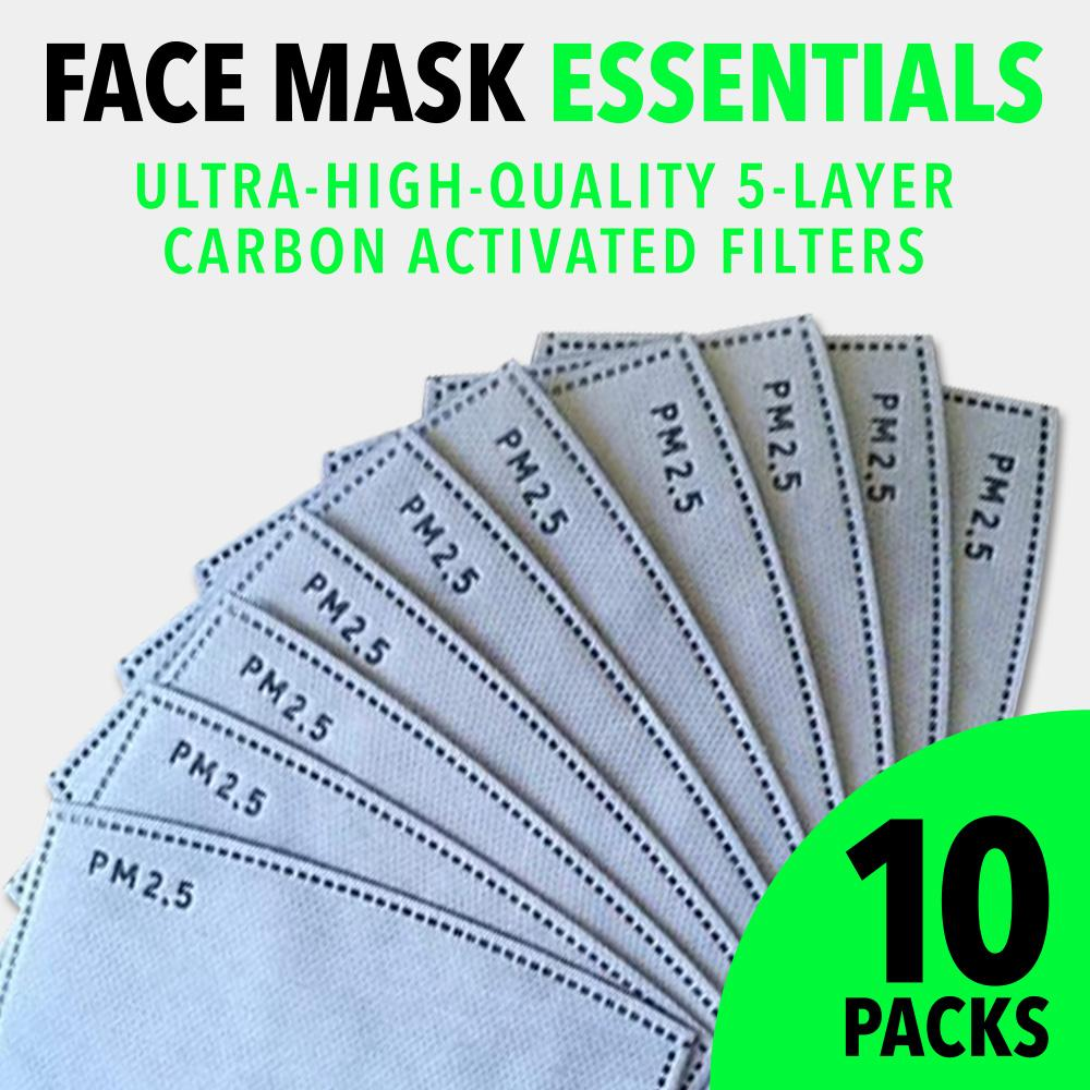 Carbon Activated 5-Layer Face Mask Filters