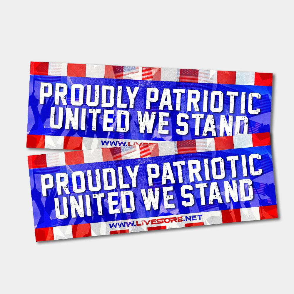 PROUDLY PATRIOTIC Bumper Sticker 2-Pack