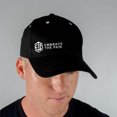 EMBRACE THE PAIN ETP Black White Flex Fit Ball Cap