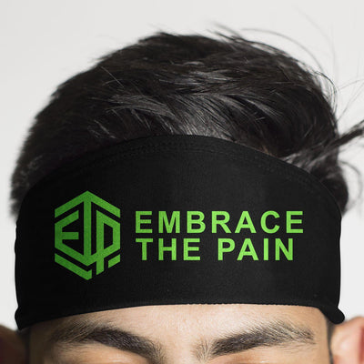 ETP EMBRACE THE PAIN Black & Green HeadBand