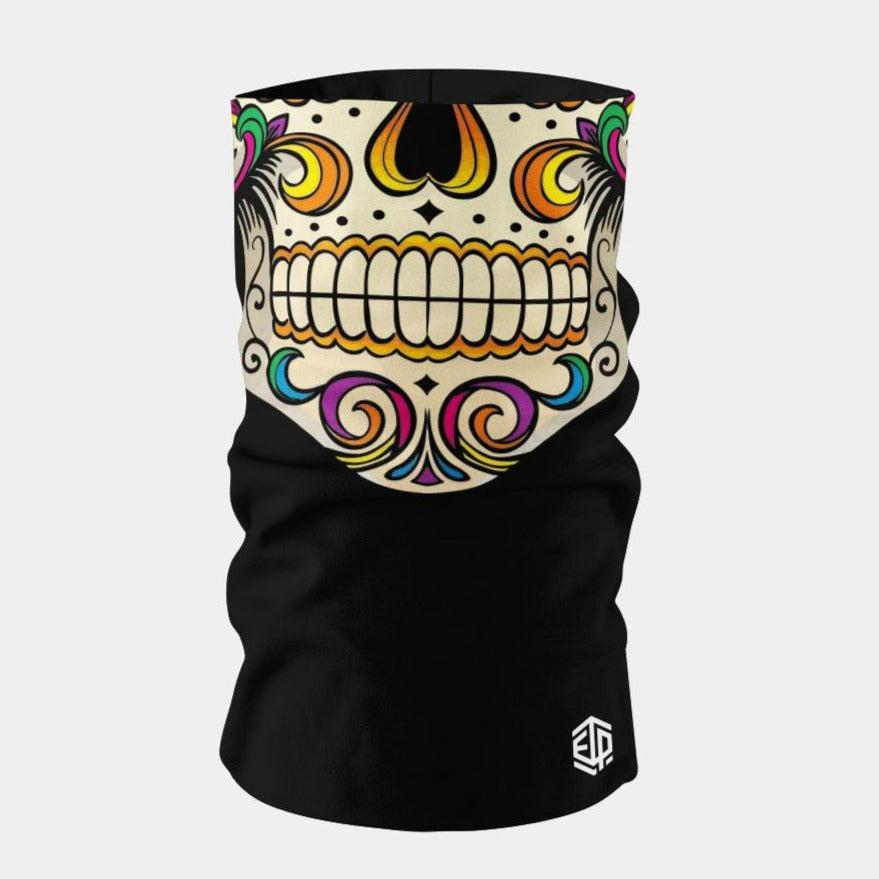 """ICE COOL"" FACE SLEEVE BUFF - MEXICAN SUGAR SKULL"