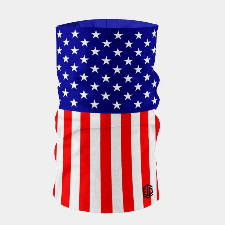 """ICE COOL"" FACE SLEEVE BUFF - USA FLAG"