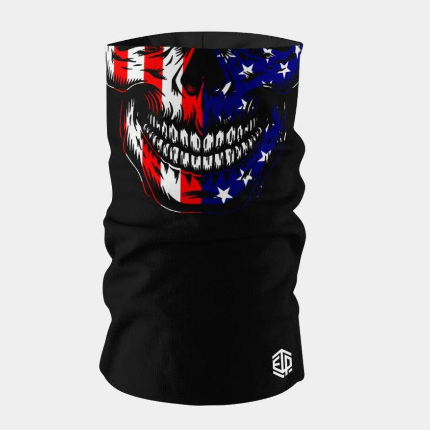 """ICE COOL"" FACE SLEEVE BUFF 2-PACK - USA SKULL"
