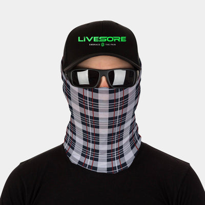 FACE SLEEVE BUFF - WHITE PLAID