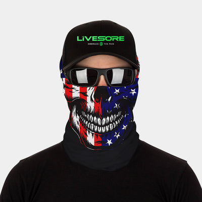 FACE SLEEVE BUFF - USA SKULL