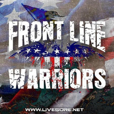 FRONT LINE WARRIOR Sticker 5-Pack