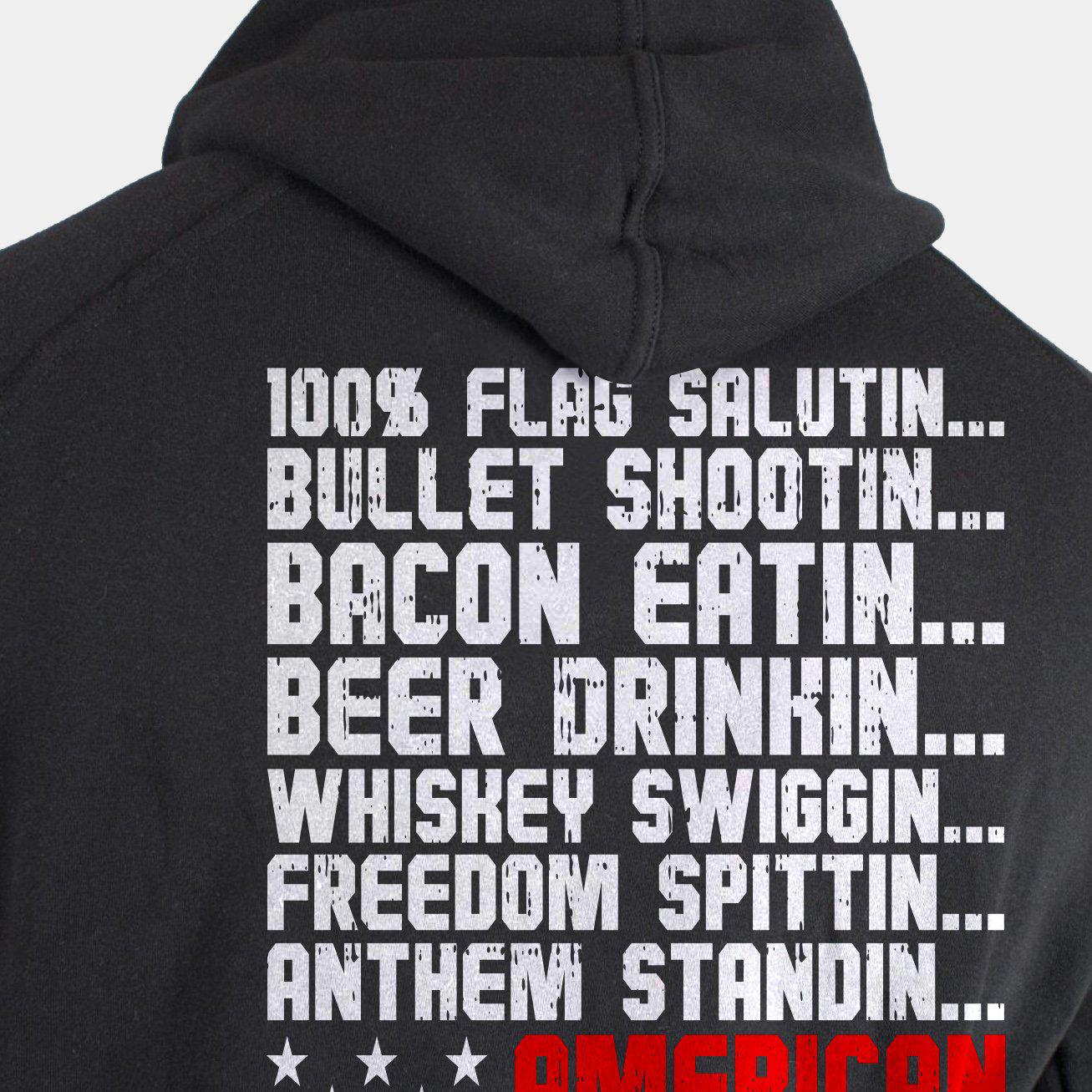 RED BLOODED AMERICAN Pullover Hoodie