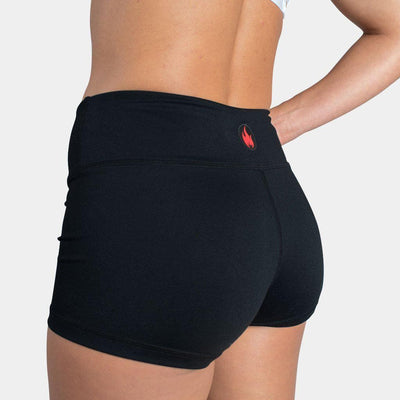 FIRE No-Rise Booty Shorts - BLACK ONYX