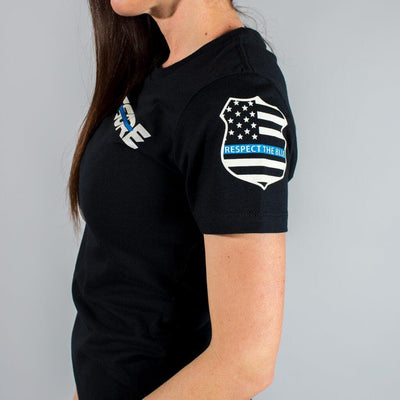 Thin Blue Line Police Support Women's T-Shirt