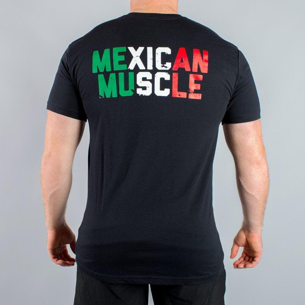 Mexican Muscle T-Shirt Flag Colored-Mens Apparel,Mens T-Shirts-Livesore.net