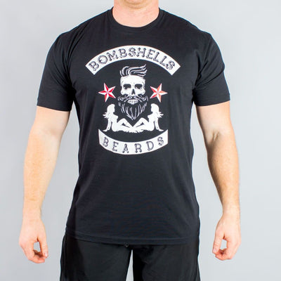 Bombshells & Beards Skull T-Shirt