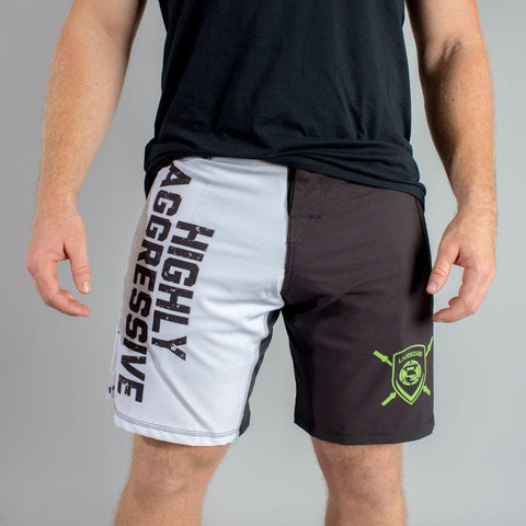 HIGHLY AGGRESSIVE 2-Tone WOD Shorts